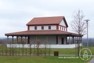 Gallorömischer Umgangstempel - Wiederaufbau auf dem Martberg in Pommern an der Mosel